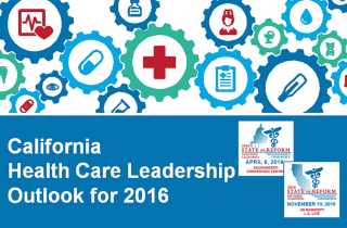 """2016 California Health Leaders survey: 54.4% negative about mergers and feeling """"challenged"""""""