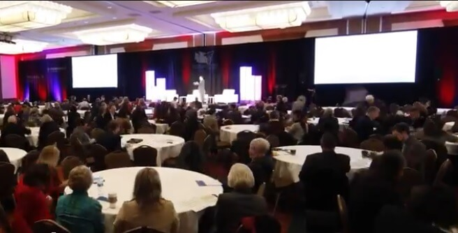 Audience gathers at the 2015 Washington State of Reform morning keynote / source: State of Reform