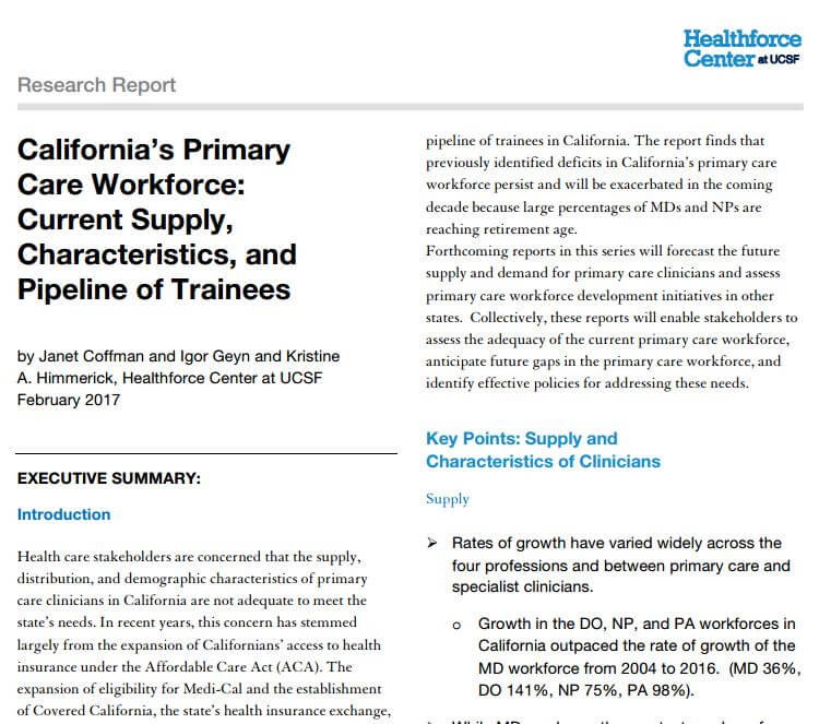 California's primary care shortage - State of Reform | State