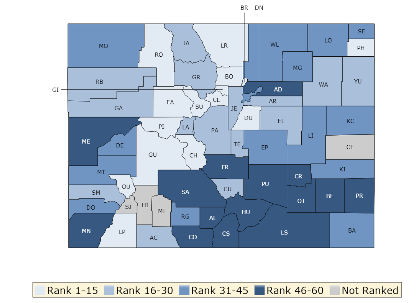 County rankings give insight into Colorado health disparities